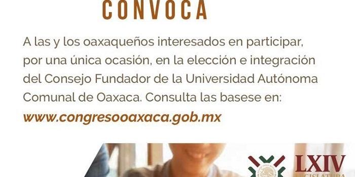 Congreso integra Consejo Fundador de la Universidad Autónoma Comunal de Oaxaca