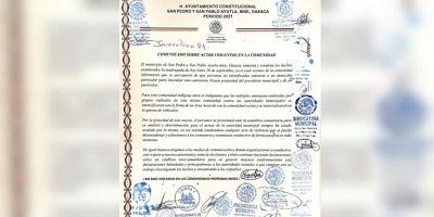 OAXACA: respeto a su autonomía pide presidente municipal de Ayutla